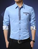 cheap Men's Belt-Men's Active Cotton Slim Shirt - Solid Colored Gray XL / Long Sleeve / Fall