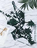 baratos Biquínis e Roupas de Banho Femininas-Mulheres Nadador Monoquíni - Plantas, Estampado Folha tropical