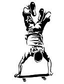 halpa Tanssiasusteet-Ihmiset Urheilu Wall Tarrat Lentokone-seinätarrat Koriste-seinätarrat, Vinyyli Kodinsisustus Seinätarra Ikkuna Seinä