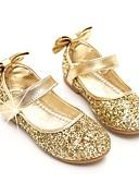 olcso Virágszóró kislány ruhák-Lány Cipő Flitter Tavasz / Ősz Balerinacipő / Virágoslány cipők Lapos Csokor / Flitter / Átlátszó ragasztószalag mert Arany / Forgásc