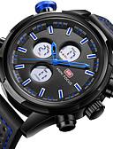זול שעוני ילדים-MINI FOCUS בגדי ריקוד גברים שעון יד Japanese קווארץ LCD אזור זמן כפול שעונים יום יומיים עור אמיתי להקה אנלוגי פאר יום יומי שחור - לבן אדום כחול / מתכת אל חלד