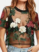 baratos Camisetas Femininas-Mulheres Camiseta Casual Floral