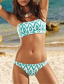 cheap Bikinis-Women's Boho White Bikini Swimwear - Geometric Pattern S M L White