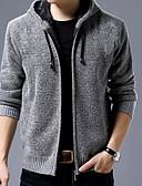 זול חולצות לגברים-אחיד - קרדיגן שרוול ארוך עם קפוצ'ון בגדי ריקוד גברים