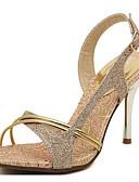 halpa Cocktail-mekot-Naisten Kengät PU Kevät / Kesä Comfort Sandaalit Stilettikorko Kulta