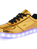 preiswerte Herren T-Shirts & Tank Tops-Herrn PU Frühling / Herbst Komfort Sneakers Gold / Silber