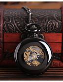 זול שעוני ילדים-לזוג שעוני שלד שעון כיס קווארץ חריתה חלולה שעונים יום יומיים סגסוגת להקה אנלוגי פאר יום יומי גולגולת שחור - שחור