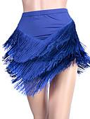 저렴한 볼룸 댄스 웨어-라틴 댄스 하위 여성용 성능 스판덱스 태슬 민소매 드롭 치마