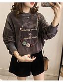 זול טרנינגים וקפוצ'ונים לנשים-סגנון פרחוני / דפוס, אחיד / אותיות טרנינג ליציאה בגדי ריקוד נשים