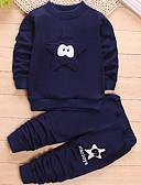 tanie Zestawy ubrań dla chłopców-Brzdąc Dla chłopców Na co dzień Sport Patchwork Długi rękaw Bawełna Komplet odzieży