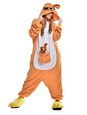 cheap Women's Hats-Adults' Kigurumi Pajamas Kangaroo Onesie Pajamas Polar Fleece Synthetic Fiber Orange Cosplay For Men and Women Animal Sleepwear Cartoon Festival / Holiday Costumes