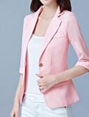 preiswerte Etuikleider-Damen - Solide Einfach Arbeit Jacke, V-Ausschnitt überdimensional