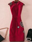 זול שמלות נשים-עומד מעל הברך אחיד - שמלה גזרת A סגנון רחוב בגדי ריקוד נשים