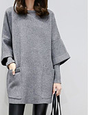 cheap Women's Hoodies & Sweatshirts-Women's Plus Size Going out Sweatshirt - Solid Colored
