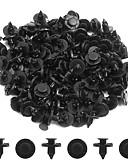 זול טישרטים לגופיות לגברים-100pcs 8mm דיה פלסטיק שחור השטיח השטיח לדחוף סוג קליפים פנים מחצלת עבור מכוניות
