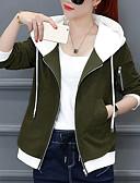 preiswerte Damen Blazers & Anzugjacken-Damen - Solide Mantel, V-Ausschnitt Baumwolle überdimensional