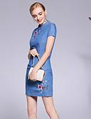 זול שמלות נשים-עומד פרח, פרחוני צמחים - שמלה נדן סגנון סיני בגדי ריקוד נשים