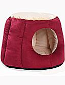 זול קווארץ-חתול כלב מיטות חיות מחמד משטחים אחיד חם רך אפור סגול אדום עבור חיות מחמד