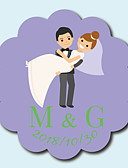 billige Bryllupskjoler-Blomst / Botanikk Klistremerker, etiketter og tags - 10 Sirkelformet Konvolutt-klistremerke
