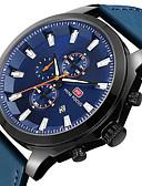 זול קווארץ-MINI FOCUS בגדי ריקוד גברים שעון יד Japanese לוח שנה / שעון עצר / שעונים יום יומיים עור אמיתי להקה יום יומי / מינימליסטי שחור / כחול / חום / מתכת אל חלד