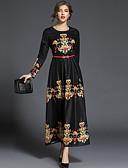 זול שמלות נשים-מידי דפוס שמלה גזרת A נדן סווינג סגנון רחוב בגדי ריקוד נשים