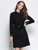 זול שמלות נשים-מעל הברך אחיד - שמלה גזרת A מתוחכם סגנון רחוב בגדי ריקוד נשים
