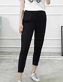 זול מכנסיים לנשים-בגדי ריקוד נשים כותנה מכנסי טרנינג מכנסיים אחיד / סתיו
