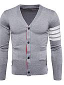 זול חולצות לגברים-פסים - קרדיגן שרוול ארוך צווארון V בגדי ריקוד גברים