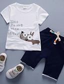 זול סטים של ביגוד לבנים-סט של בגדים כותנה שרוולים קצרים אחיד יום יומי בנים פעוטות