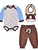 זול ז'קטים מעור-תִינוֹק סט של בגדים כותנה אביב סתיו שרוול ארוך יומי מנוקד בנים חמוד יום יומי חום בהיר