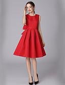 Χαμηλού Κόστους Γυναικεία Φορέματα-Γυναικεία Εξόδου / Δουλειά Κομψό στυλ street Γραμμή Α Φόρεμα - Μονόχρωμο Μίντι Χαμόγελο