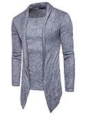 זול סוודרים וקרדיגנים לגברים-צבע אחיד - סוודר שרוול ארוך גולף בגדי ריקוד גברים