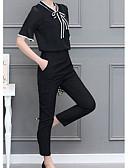 cheap Women's Dresses-Women's Blouse - Solid Colored Pant V Neck