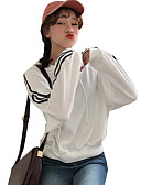 cheap Women's Hoodies & Sweatshirts-Women's Going out Loose Hoodie - Striped Color Block