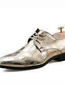זול טישרטים לגופיות לגברים-לבש נעליים עור אביב / קיץ נוחות נעלי אוקספורד זהב / שחור / כסף