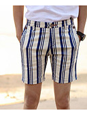 cheap Sport Watches-Men's Boho Shorts Pants - Striped Classic Style