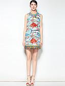 preiswerte Damen Kleider-Damen Boho A-Linie Kleid - Druck, Einfarbig Tier