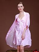 billige Truser-Dame Dress Sateng og silke Pyjamas-Ensfarget,Elegant