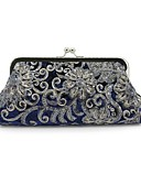 cheap Wedding Wraps-Women's Bags Velvet Evening Bag Embroidery Black / Red / Royal Blue