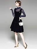 お買い得  スカート-女性用 ストリートファッション シース ドレス - メッシュ, ソリッド 膝上