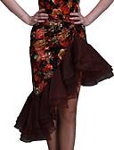 זול מכנסיים ושורטים לגברים-ריקוד לטיני חלקים תחתונים בגדי ריקוד נשים קטיפה דוגמא \ הדפס טבעי חצאיות