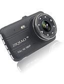 זול כובעים אופנתיים-ZIQIAO JL-17 HD 1280 x 720 / Full HD 1920 x 1080 רכב DVR 170 מעלות זווית רחבה 12 MP 4 אִינְטשׁ IPS דש קאם עם ראיית לילה / G-Sensor / מצב