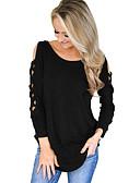 baratos Camisas Femininas-Mulheres Camiseta - Feriado Chique & Moderno Sólido / Inverno / Com Laço
