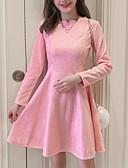 baratos Vestidos de Mulher-Mulheres Para Noite Algodão Reto Vestido Sólido Cintura Alta Acima do Joelho