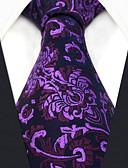 זול עניבות ועניבות פרפר לגברים-גברים של המפלגה עבודה rayon עניבה - פרח בלוק צבע אקארד