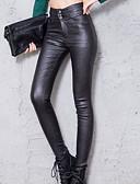 abordables Pantalones para Mujer-Mujer Un Color Legging - Un Color Color sólido Cintura Alta