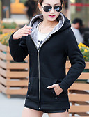 cheap Women's Tops-Women's Cotton Hoodie - Solid Colored, Modern Style / Fall