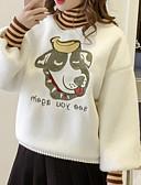 cheap Women's Hoodies & Sweatshirts-Women's Hoodie & Sweatshirt - Striped Turtleneck