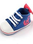 זול טישרטים לגופיות לגברים-בנים נעליים בד אביב נוחות / צעדים ראשונים / נעליים לעריסה נעלי ספורט סרט גומי ל שחור / כחול ים