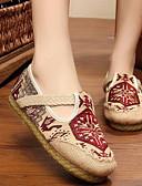 cheap Socks & Hosiery-Women's Shoes Linen Spring / Fall Comfort Flats Low Heel Red / Blue